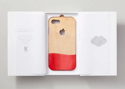 芳香剤チップを搭載するiPhoneウッドケースの試作品開発
